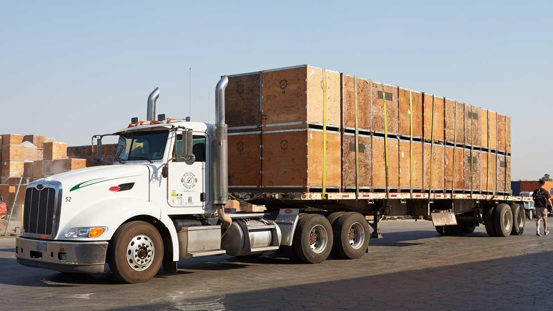 Almond transport